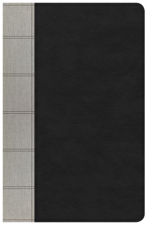 NKJV Large Print Personal Size Reference Bible, Black/Gray