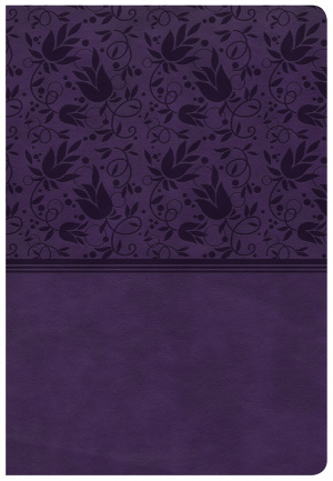 CSB Super Giant Print Reference Bible, Purple Leathertouch