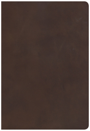 CSB Super Giant Print Reference Bible, Brown Genuine Leather