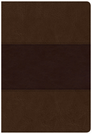 CSB Super Giant Print Reference Bible, Saddle Brown Leathert