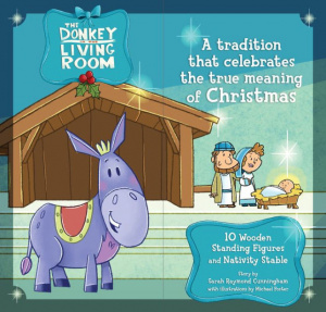 Donkey In The Living Room Book with Nativity Set, The