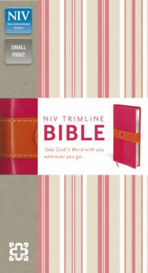 NIV Trimline Pink Orange Bible