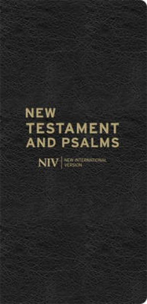 NIV Diary New Testament and Psalms: Black, Bonded Leather, Anglicised