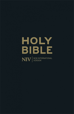 NIV Black Bonded Leather Thinline Bible