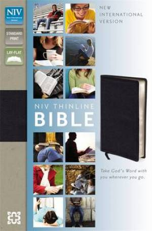 NIV Thinline Black Bonded Leather Bible