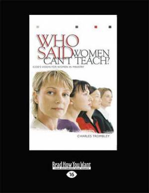 Who Said Women Can't Teach (1 Volumes Set)