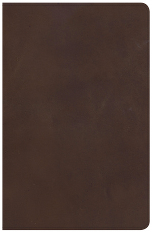 NKJV Large Print Personal Size Reference Bible, Brown Genuin