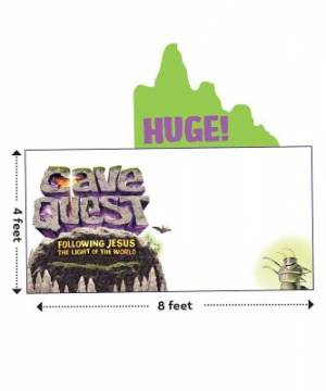 Cave Quest Logo Outdoor Banner