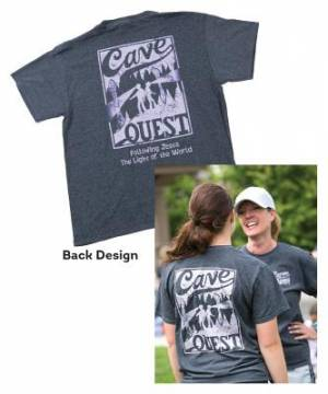 Cave Quest Staff T-Shirt Large
