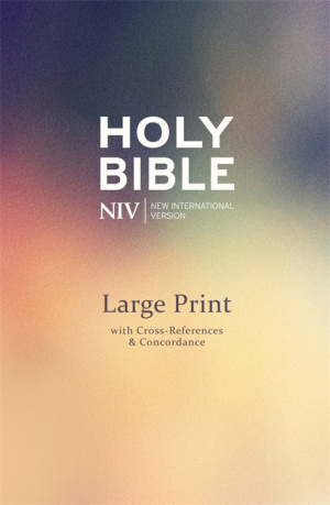 NIV Single Column Deluxe Reference Bible: Hardback, Large Print