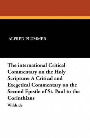 The International Critical Commentary on the Holy Scripture