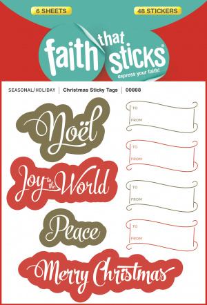 Christmas Sticky Tags