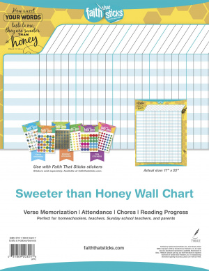 Sweeter than Honey Wall Chart