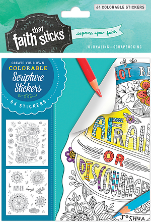 Joshua 1:9 Colorable Stickers