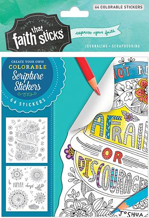 Joshua 1:9 Colorable Stickers