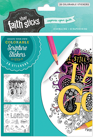 Psalm 46:10 Colorable Stickers