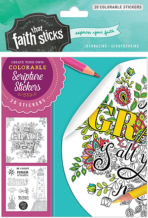2 Corinthians 12:9 Colorable Stickers