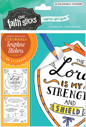 Psalm 28:7 Colorable Stickers