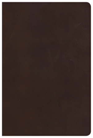 CSB Large Print Ultrathin Reference Bible, Brown Genuine Lea