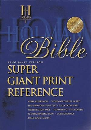 Bible Kjv Super Giant Print Reference Burg T/I