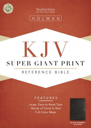 KJV Super Giant Print Reference Bible: Black, Bonded Leather