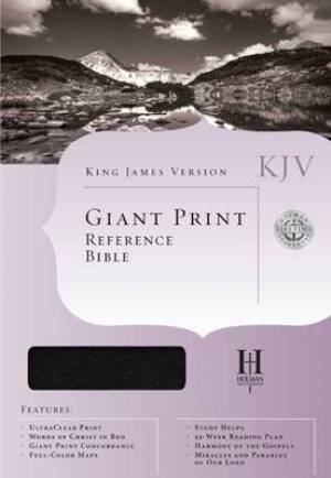 Bible Kjv Giant Print Reference Black Imm T/I