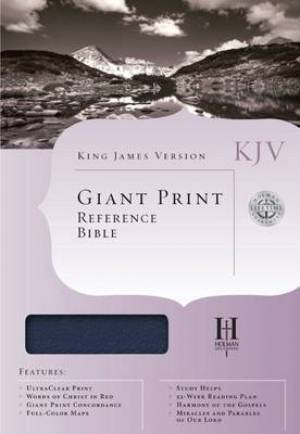 KJV Giant Print Reference Bible: Blue, Imitation Leather, Thumb Indexed
