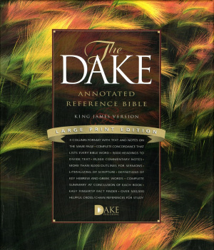 KJV Dake Annotated Reference Bible Large Print Black Bonded Leather