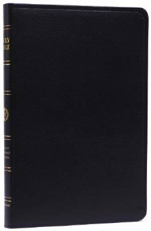 ESV Thinline Bible Black, Genuine Leather