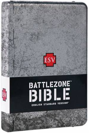 ESV Battlezone Bible: Weathered Cross Design, Metal Case
