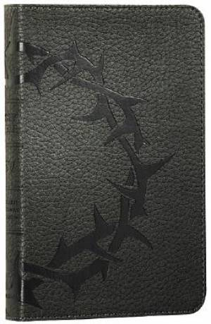 ESV Thinline Bible: Charcoal, Crown Design, TruTone