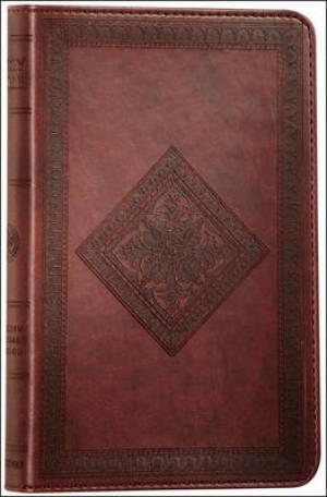 ESV Thinline Bible: Chestnut, Diamond Design, TruTone