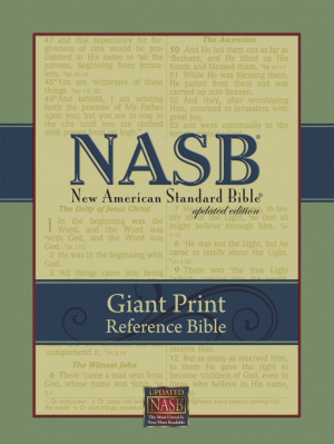NASB Giant Print Reference Bible: Black, Imitation Leather