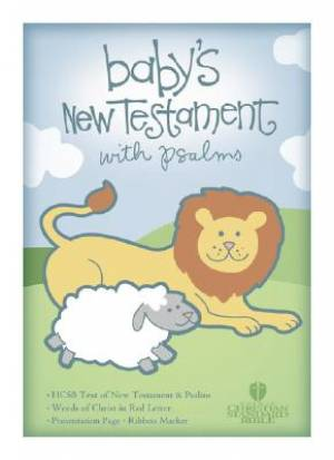 HCSB Baby's New Testament with Psalms Imitation Leather Pink