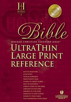 Holman Christian Standard Ultrathin Reference Bible: Black, Bonded Leather, Large Print:
