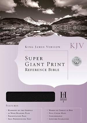 Kjv Super G P Ref Bible Blk Gen Lth