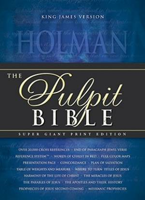 KJV Pulpit Bible Black Padded Hardcover