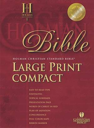 HCSB Larger Print Compact Bible Blue Bonded Leather