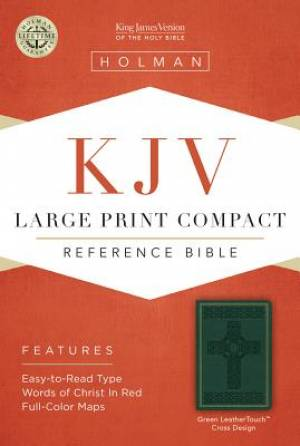 KJV Larger Print Compact Reference Bible Green Imitation Leather