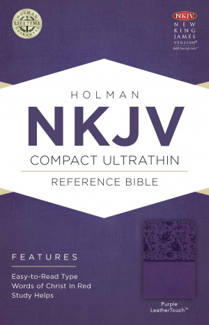 NKJV Compact UltraThin Reference Bible, Purple Imitation Leather