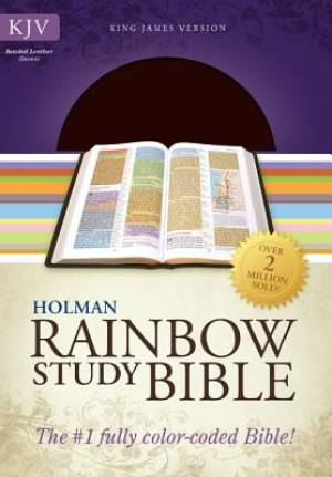 KJV Rainbow Study Bible Brown Bonded Leather