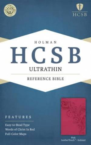 HCSB Ultrathin Reference Bible, Pink Leathertouch Indexed