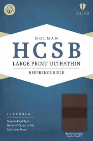HCSB Large Print Ultrathin Reference Bible, Brown/Chocolate