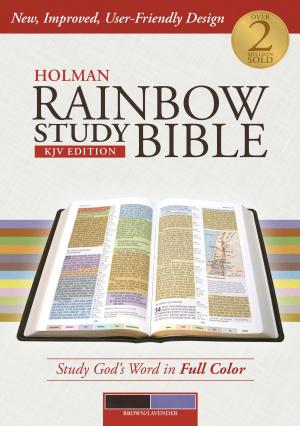 KJV Holman Rainbow Study Bible Brown/Lavender
