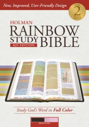 KJV Holman Rainbow Study Bible Brown/Pink