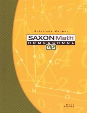 Saxon Math 65 Solutions Manual
