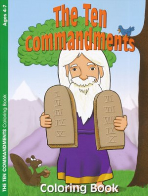 10 Commandments Coloring Book