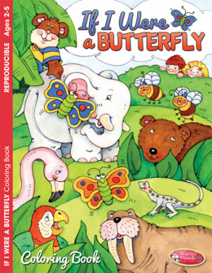 If I Was a Butterfly Colouring Activity Book
