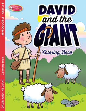 David and the Giant Colouring Activity Book