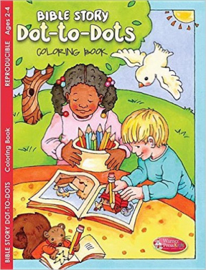 Bible Story Dot-To-Dots Colouring Book